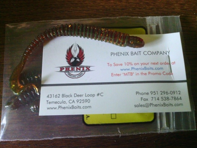 phenix bait Saturn Worm 4 inch